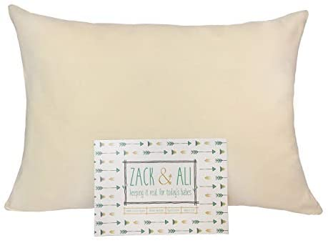 Zack & Ali Organic Toddler Pillowcase, Natural, 13-Inch-by-18-Inch