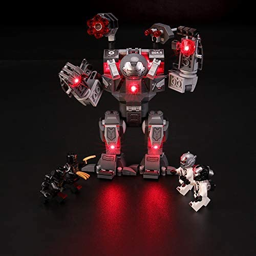 BRIKSMAX Led Lighting Kit for Marvel Avengers War Machine Buster - Compatible with Lego 76124 Building Blocks Model- Not Include The Lego Set