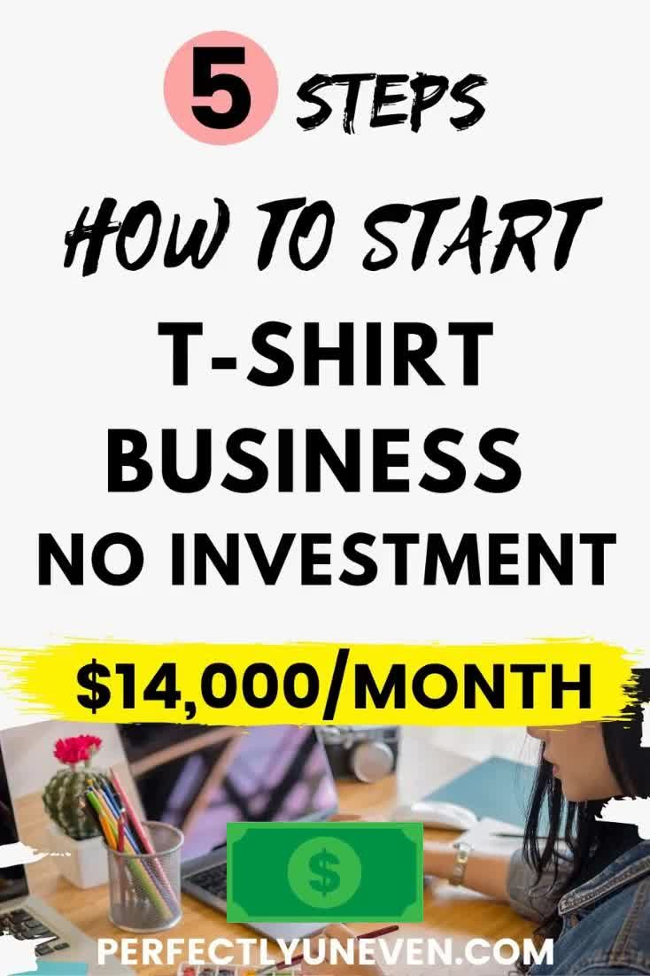 How To Start Tshirt Business No Investment - Perfectly Uneven